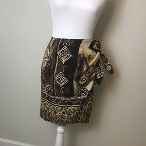 The Limited Silk 💯 % silk wrap Batik skirt